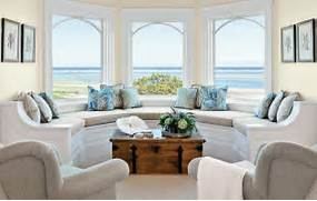 Beautiful Home Design With Modern Vintage Interior Ocean View Room Living Room With Bay Window Design Window Seat Bay Window Design