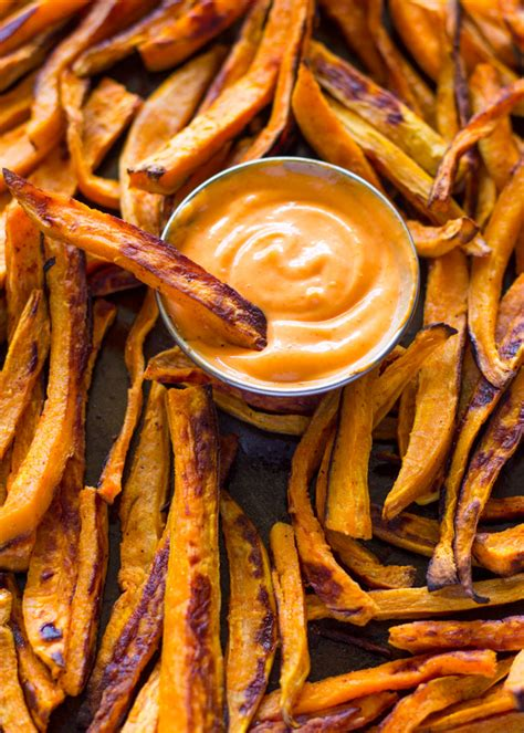 baked sweet potato fries  sriracha dipping sauce