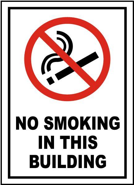 smoking   building sign  safetysigncom