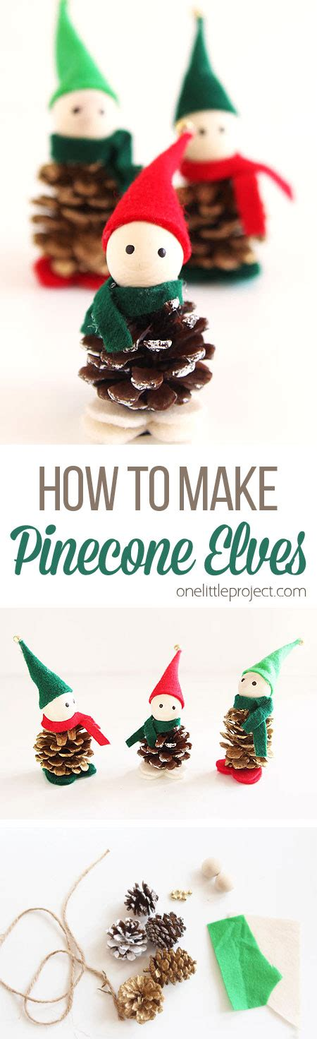 how to make small cute ornaments how to make pinecone elves