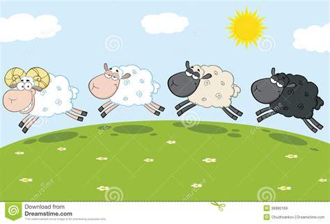 smiling ram sheep leading  sheep stock illustration
