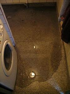 Floor Drain Backup When Washing Machine Drains