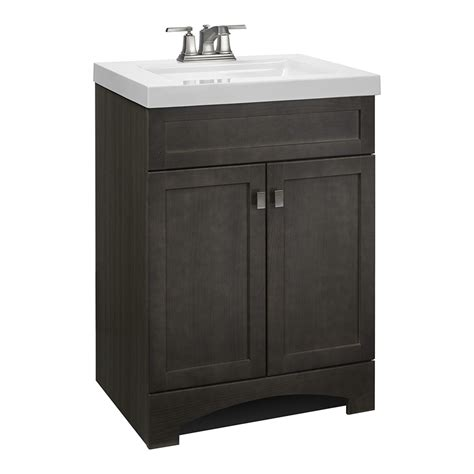custom vanity top with integrated sink shop style selections drayden gray integral single sink