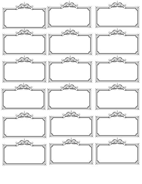 Wedding Name Plate Template name tag template invites illustrations