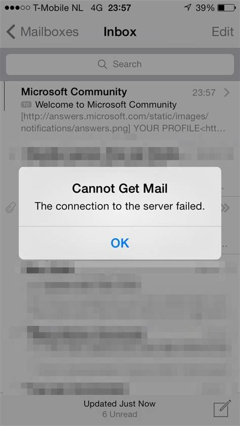 cannot get mail iphone cannot get mail connection to server failed anuvrat info