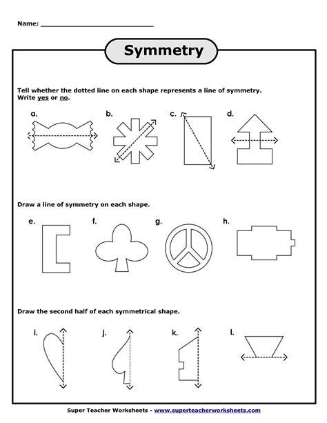 11 best images of symmetry worksheets grade 2 line