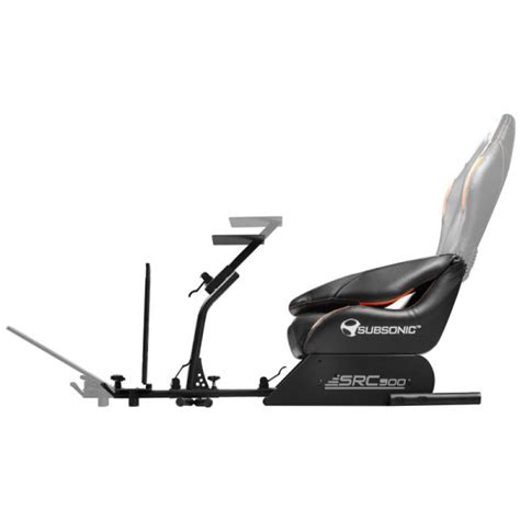 siege baquet pliable subsonic src500 driving cockpit orange fauteuil gamer