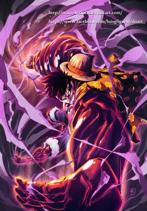 monkey  luffy fourth gear  marvelmaniadeviantartcom