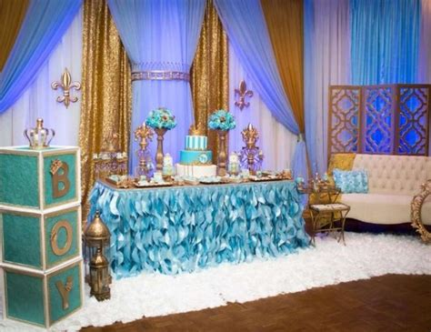 king birthday gold  blue royal baby shower baby