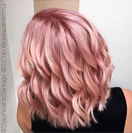 short rose gold blonde hairstyles   blonde