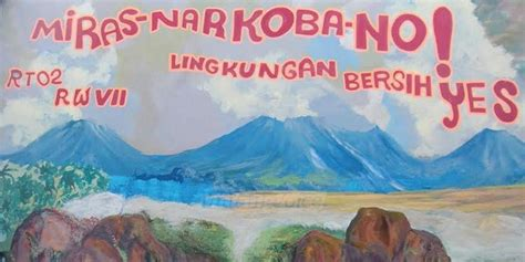 dilukis mural kampung  jalan danau toba sawojajar makin