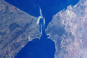 ... in Images - 2012 - 01 - The Strait of Gibraltar, as seen from the ISS Gibraltar