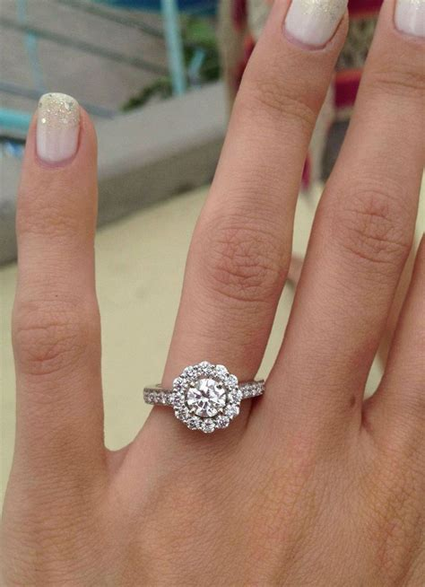 classic halo ring dream ring wedding ideas and