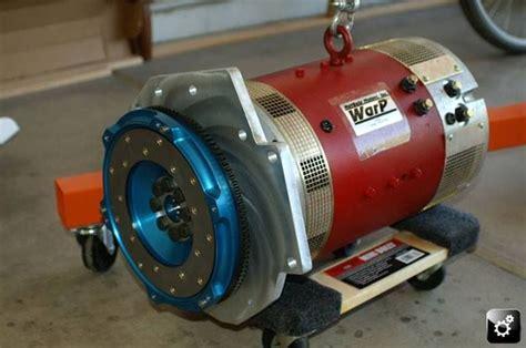Elec Motors by Lighter Flywheel To The New Hub Mounted On A Ev Motor