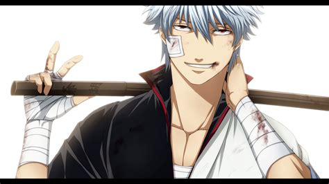wallpaper illustration anime cartoon gintama sakata