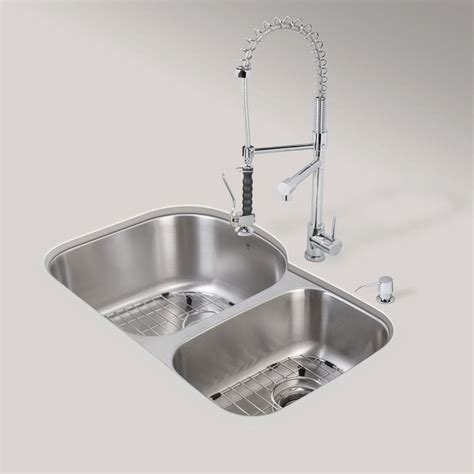 karran sinks home depot karran undermount stainless steel 31 5 in 0 50 50