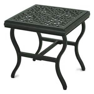allen roth stonehaven bay square patio end table lowe
