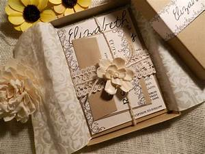 vintage flowers wedding invitation box by With wedding invitation box ideas