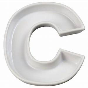 ivy lane designs ceramic love letter dishletter cwhite With clear letter candy dishes