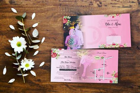 desain undangan pernikahan simpel unik  berkesan