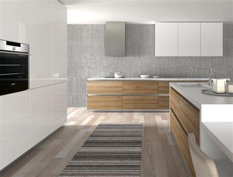 cocinas madera clara  blanco fabulous cocina blanco