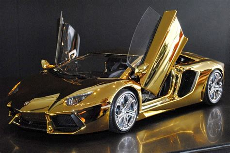 A Solid Gold Lamborghini And 6 Other Supercars
