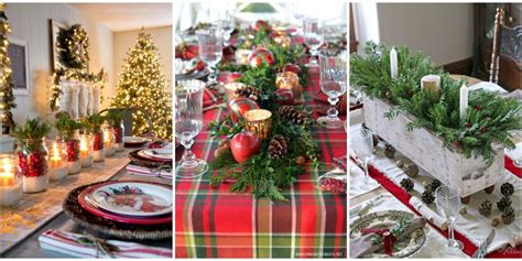 christmas table settings decorations