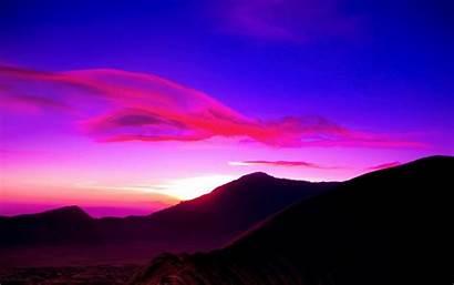 Langit Gambar Sunset Purple Indonesia Mount Bromo