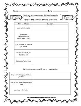 3rd grade grammar packet for common core test prep