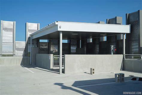 disney springs parking garage photos a look at the top floor of the new disney springs