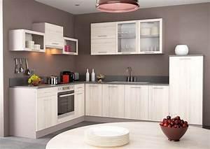 Meuble cuisine moderne cuisine en image for Petite cuisine équipée avec meuble buffet salle à manger