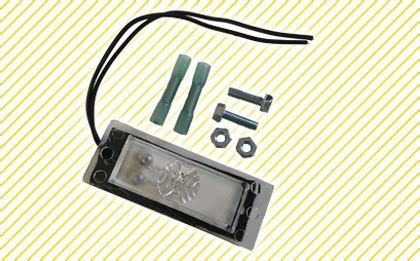 tommy gate replacement license plate light bracket