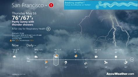 Live Animated Weather Wallpaper For Pc - accuweather launches for windows 8 lets you if it s