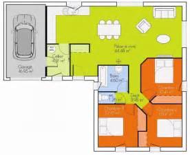 plan maison 3 chambres plain pied