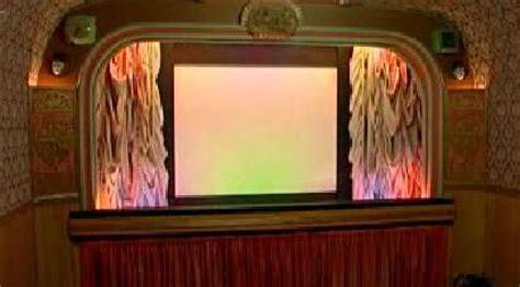 diy retro cinema pensioner turns  shed   vintage  theatre