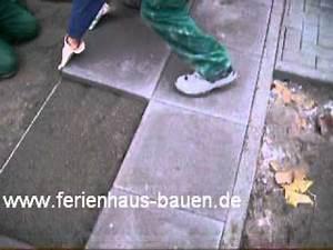 Betonplatten Verlegen Auf Erde : gartengestaltung platten verlegen youtube ~ Whattoseeinmadrid.com Haus und Dekorationen