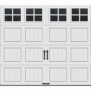 clopay gallery collection 8 ft x 7 ft 129 r value With 9 x 7 insulated garage door prices