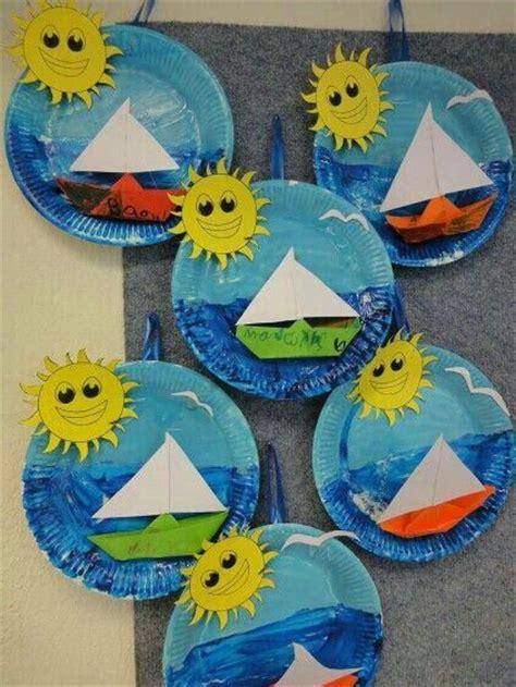 manualidad de verano paisaje maritimo actividades