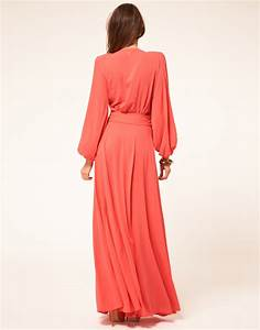 Miss sixty Miss Sixty Maxi Dress with Sleeves in Pink | Lyst