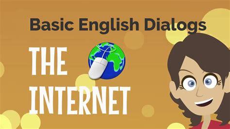 Basic English Dialogs The Internet - YouTube