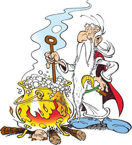 getafix  druid  asterix stirs  magic potion