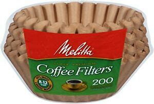 Something about natural paper filters seems to provide many coffee drinkers with a richer taste due to the sensory association of brown paper with organic and natural coffee. Melitta Coffee Filters Paper Natural Brown 8-12 Cup Basket 200 Count | eBay