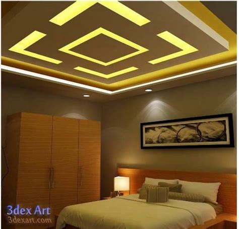false ceiling designs ideas for bedroom 2018 with led