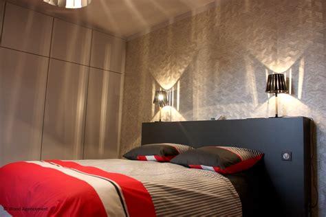 agencement de chambre a coucher dressing et tête de lit sur mesure pour une chambre à