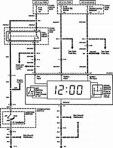 Acura Slx  1996  - Wiring Diagrams - Clock