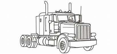 Coloring Pages Semi Truck Trucks Printable Colouring