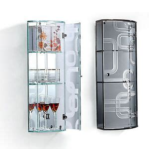 Wall Mounted Storage Cabinets With Glass Doors by Wall Mounted Glass Display Mirror Door Curved Cupboard