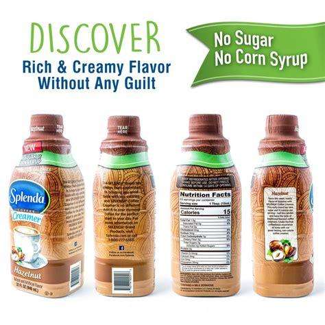 Can use paper towel as coffee filter. Splenda Hazelnut Coffee Creamer | No Sugar. No Corn Syrup. Only 15 Calories Per Serving!