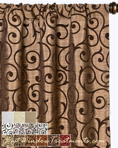 serafina scroll scarf swag window topper available in 13
