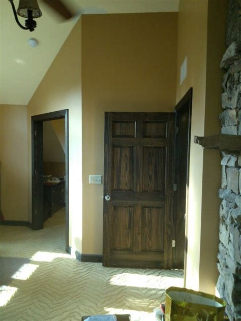 Stained interior doors Minwax oil stain Ebony in color